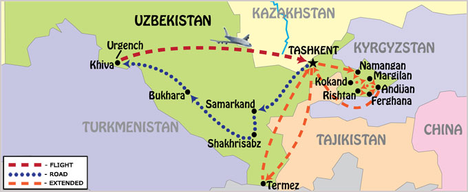 2017 Guaranteed Departure tour in Uzbekistan