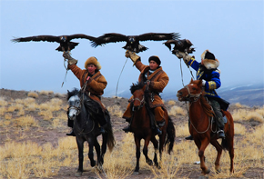 Hunting with birds - it's one of the popular sport types in Kazakhstan