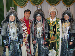 Variety of Kazakh national dress