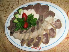 Horse meat platter
