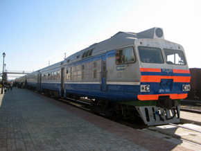 The train in Kazakhstan