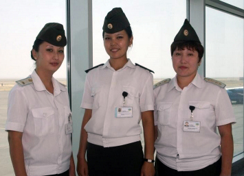 Customs control at airport