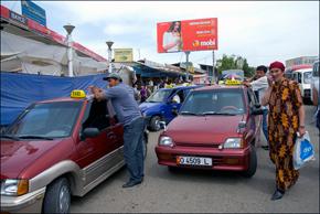 Taxi in Kyrgyzstan