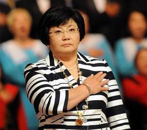 First Kyrgyz lady - president Rosa Atunbayeva