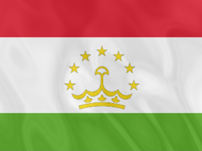 National Flag of Tadjikistan