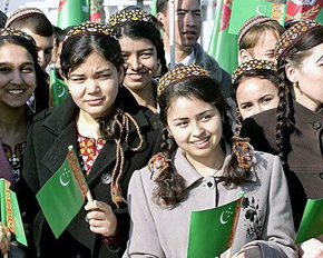 Turkmen girl - students