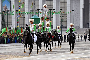 The celebrations of independance day in Turkmenistan