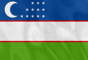 National Flag of the Republic of Uzbekistan