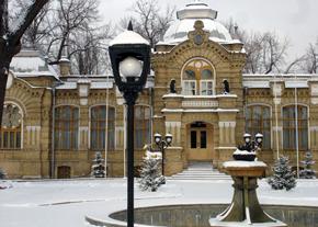 Castle of the great prince(knyaz) Nikolay Romanov in winter time