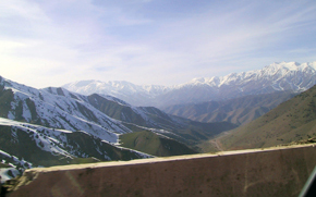 Mountains view at Ferghana Pass