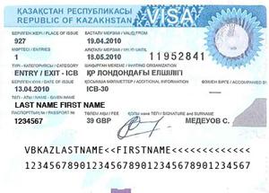 Kazakhstan visa support