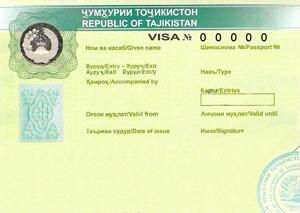 Tajikistan visa support